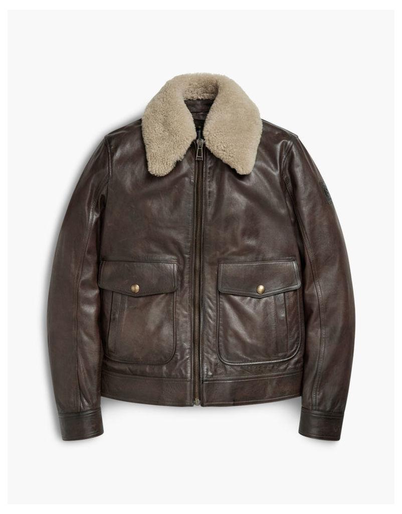 Belstaff Mentmore Aviator Jacket Black