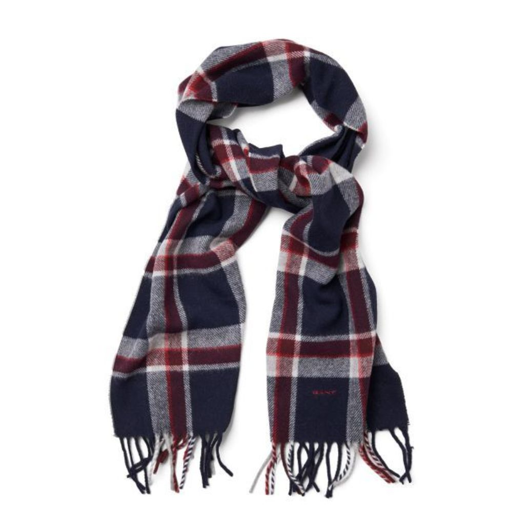 Check Scarf - Classic Blue
