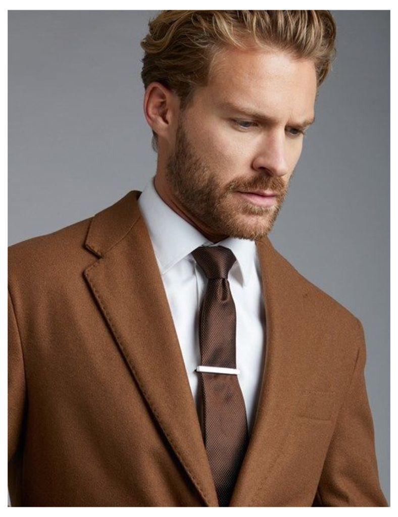 Men's Brown Wool Overcoat
