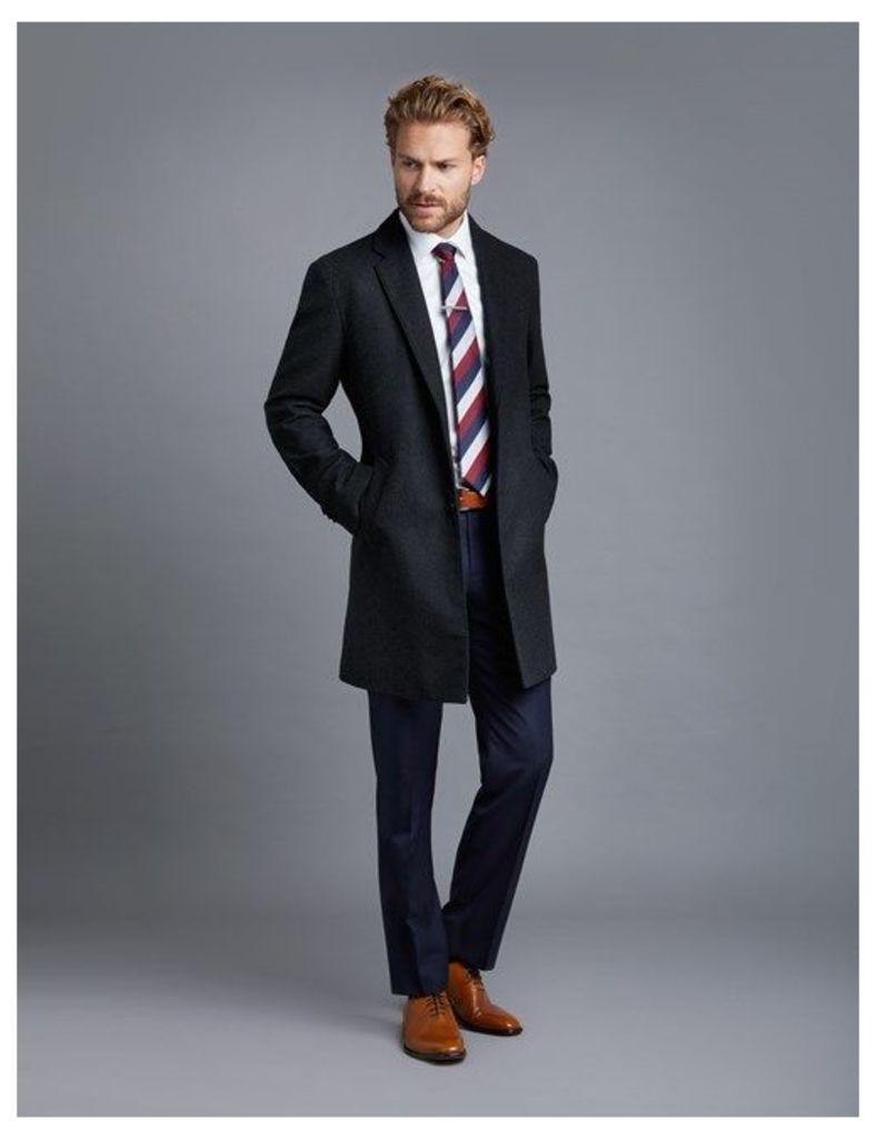 Men's Charcoal Wool Overcoat