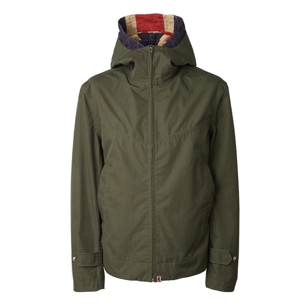 Pretty Green Men's Waterproof Hooded Jacket - Khaki - XS