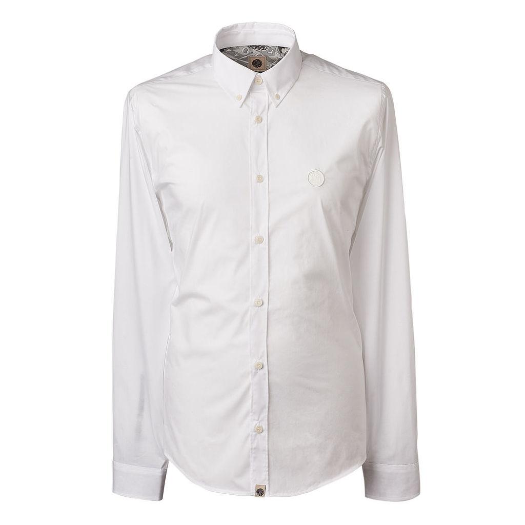 Pretty Green Men's Stretch Slim Fit Shirt - White - XS
