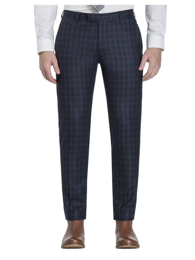 Peacoat Flannel Check Camden Fit Trouser 28L Navy