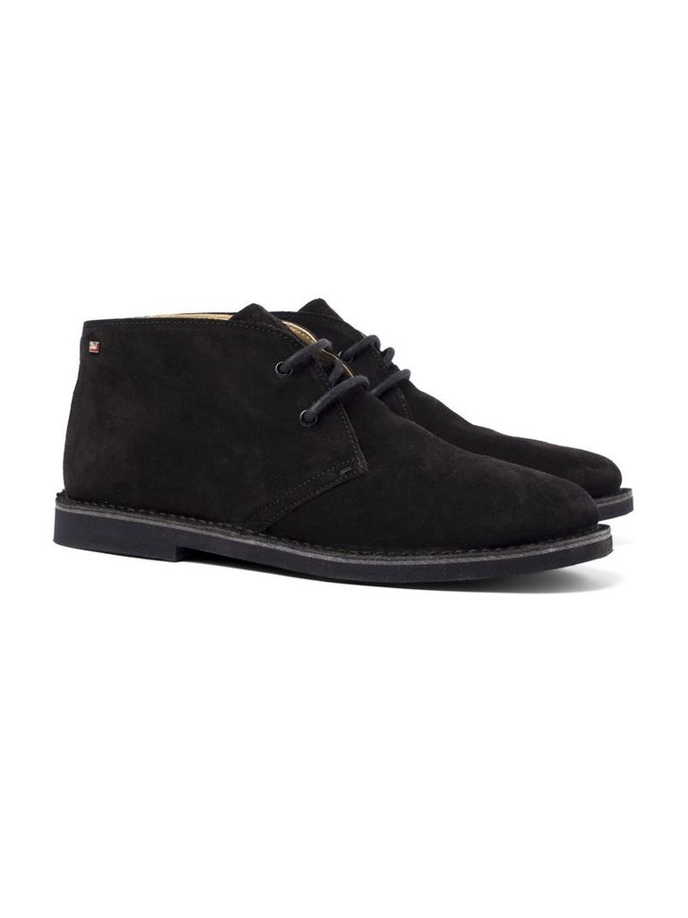 Logan Suede Desert Boot 10 Black