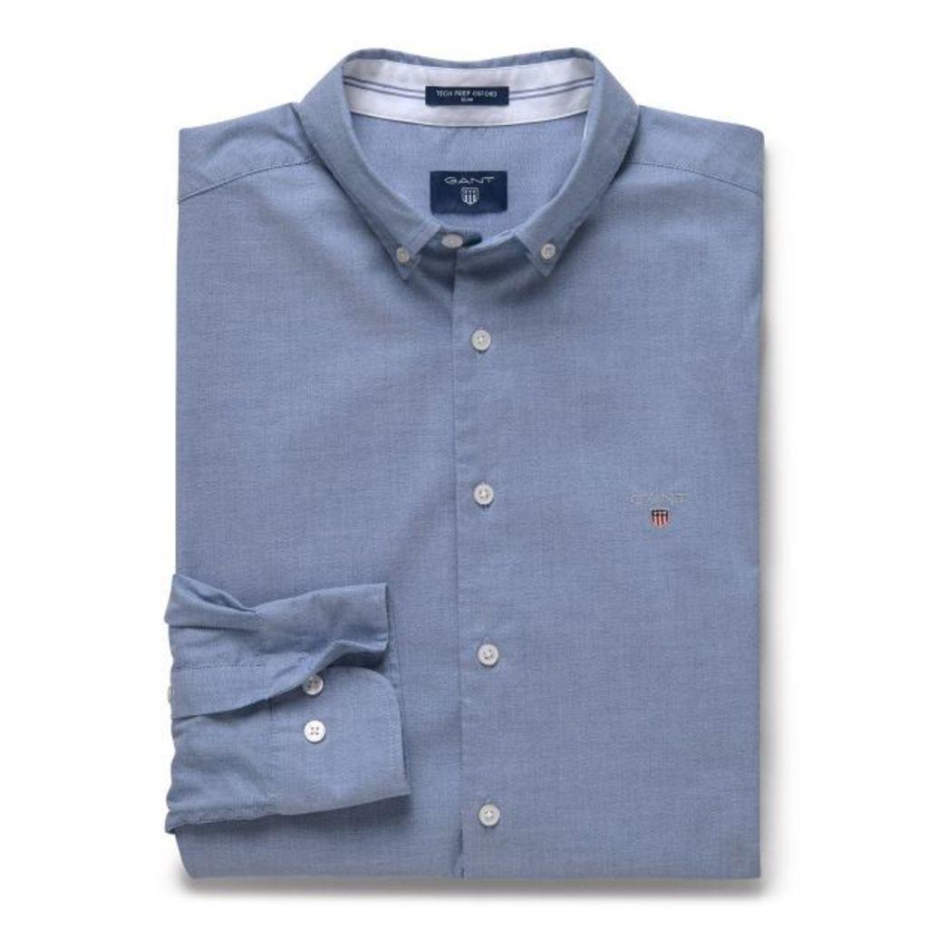 Slim Fit Tech Prep™ Oxford Shirt - Yale Blue