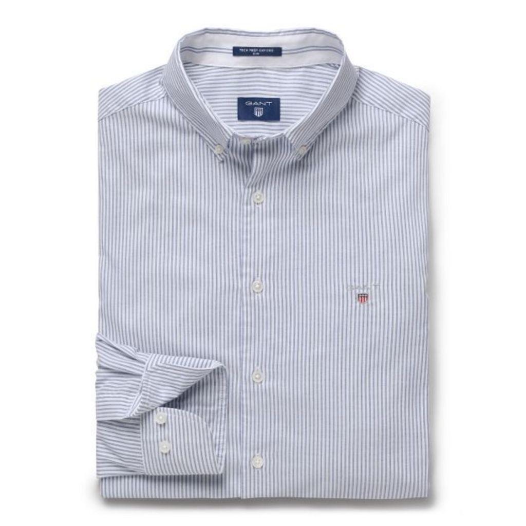 Slim Fit Tech Prep™ Oxford Stripe Shirt - Yale Blue