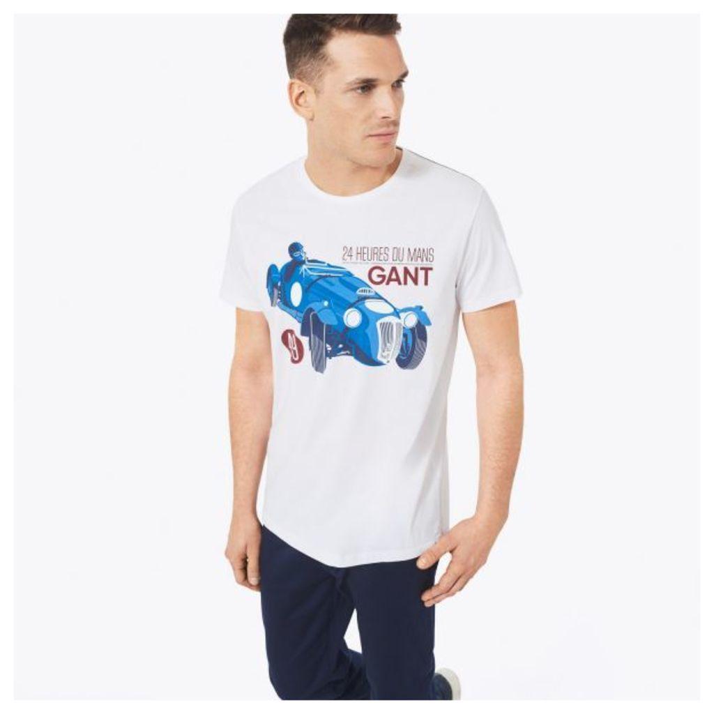 Le Mans Car Print T-shirt - White