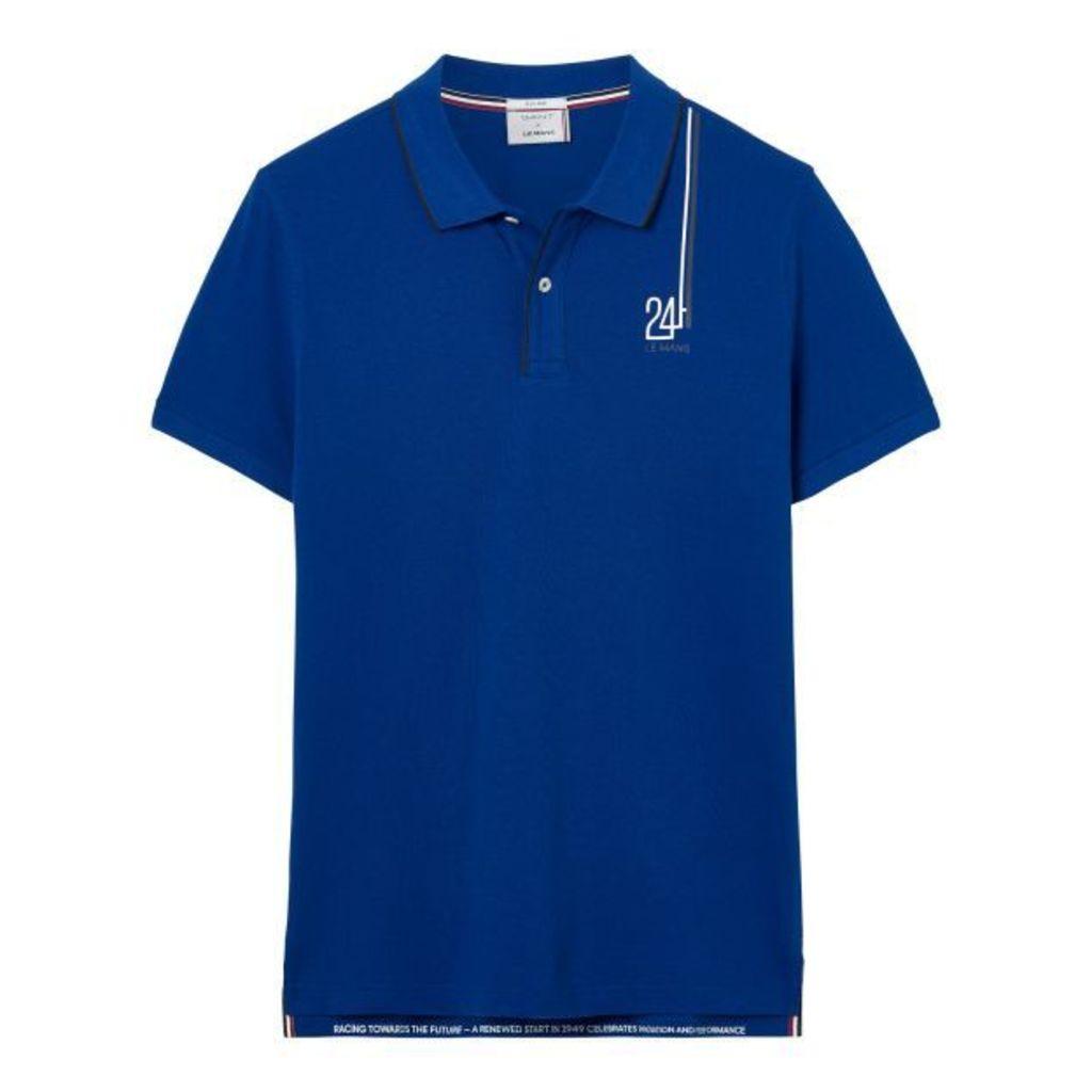 Le Mans Badge Polo Shirt - Yale Blue