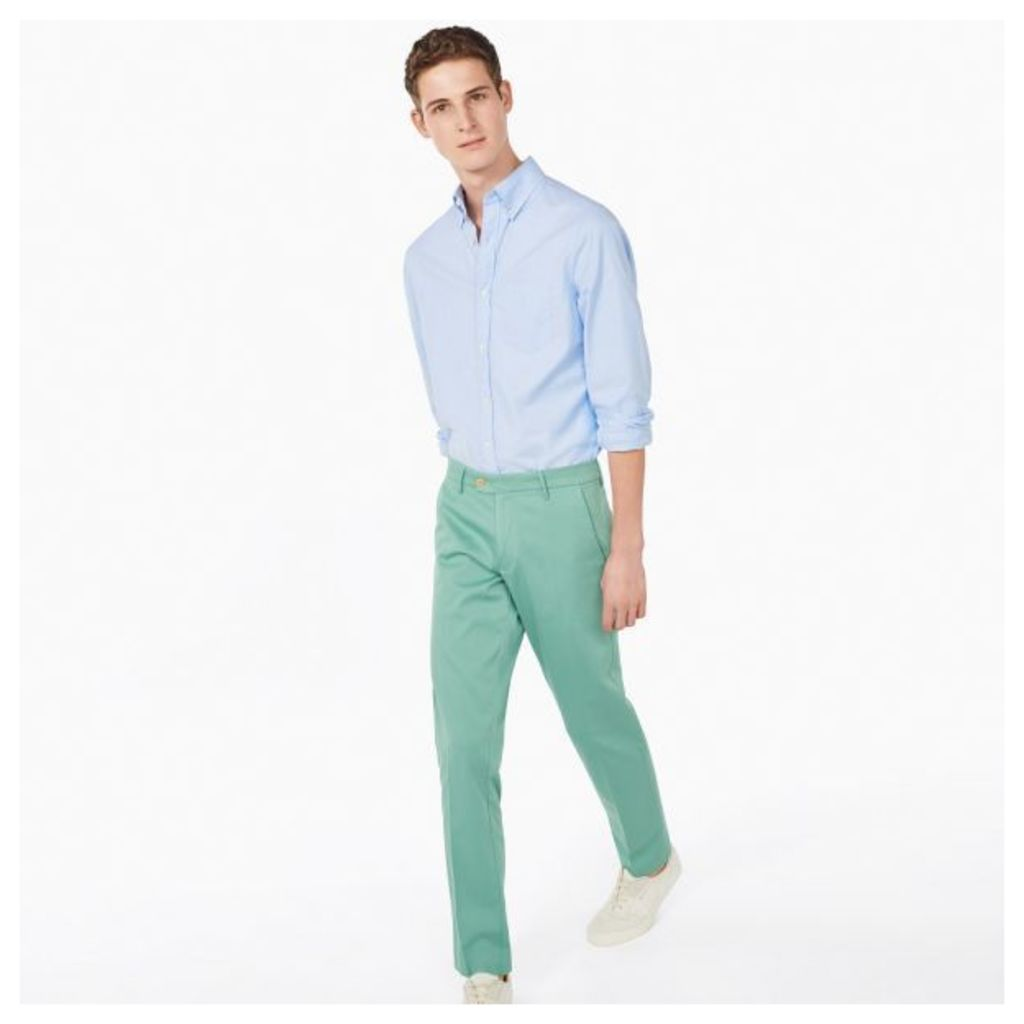 Slim Structured Chinos - Malachite Green