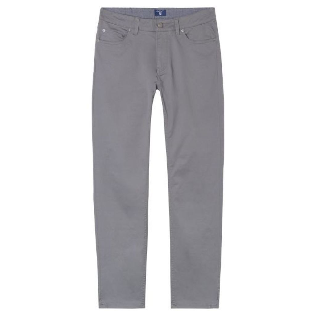 Slim Fit Twill Jeans - Graphite