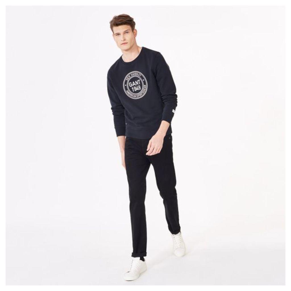 Regular Fit Soft Twill Jeans - Black