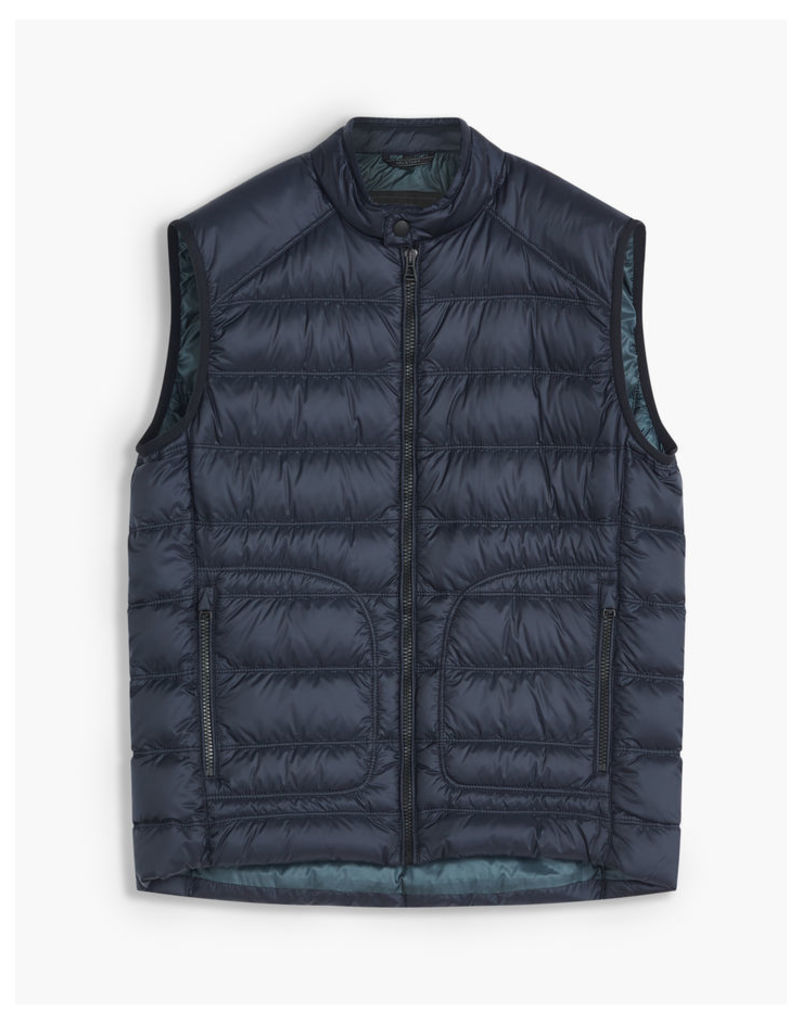 Belstaff Harbury Quilted Shell Gilet Blue