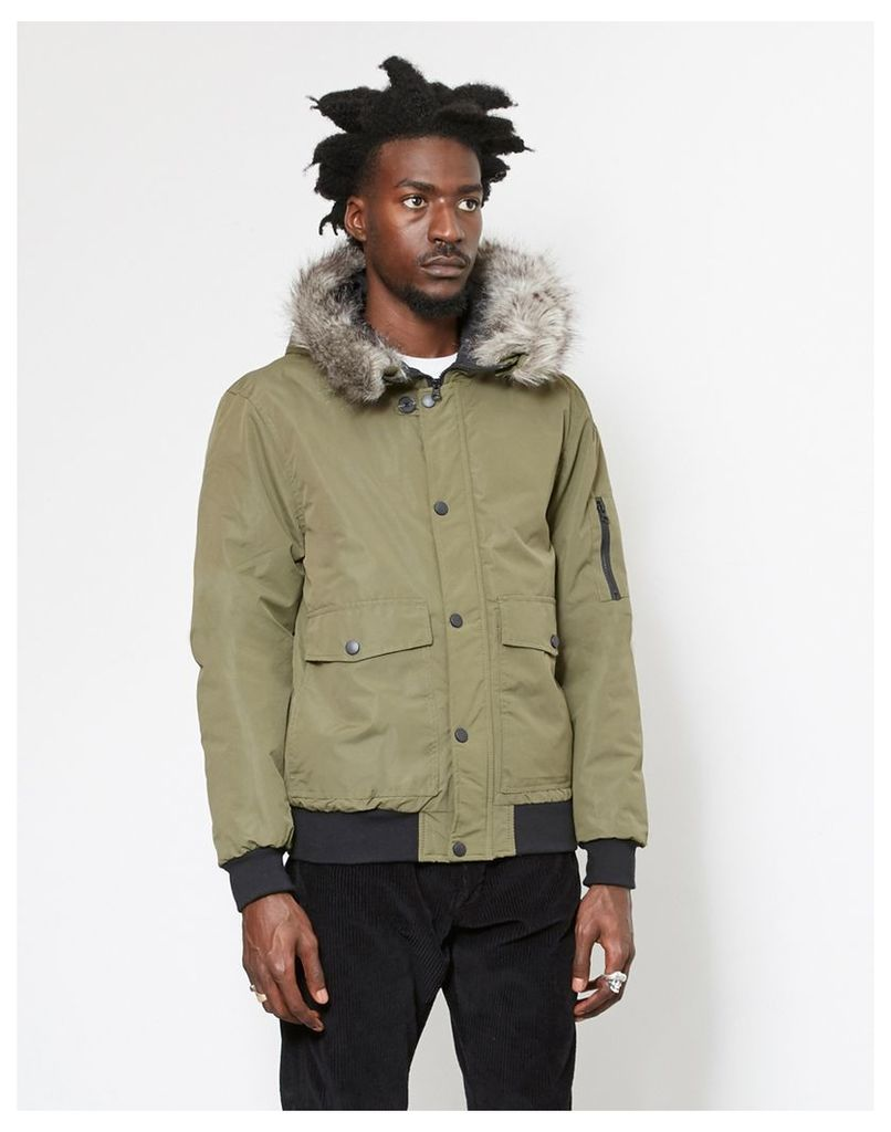 The Idle Man Short Parka Green