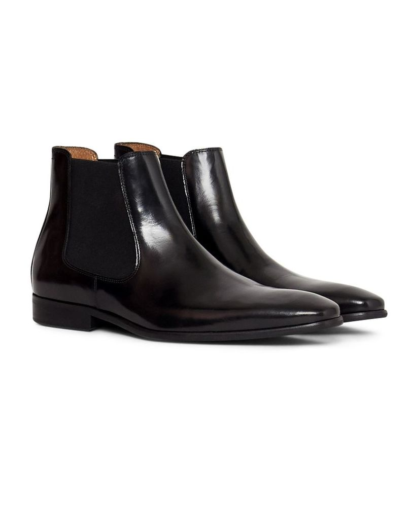 The Idle Man Leather Chelsea Boot Black