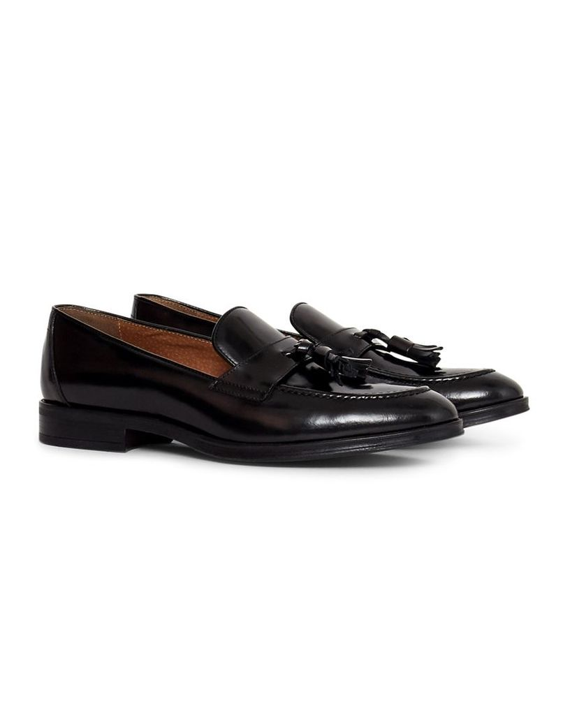 The Idle Man Leather Loafer Black