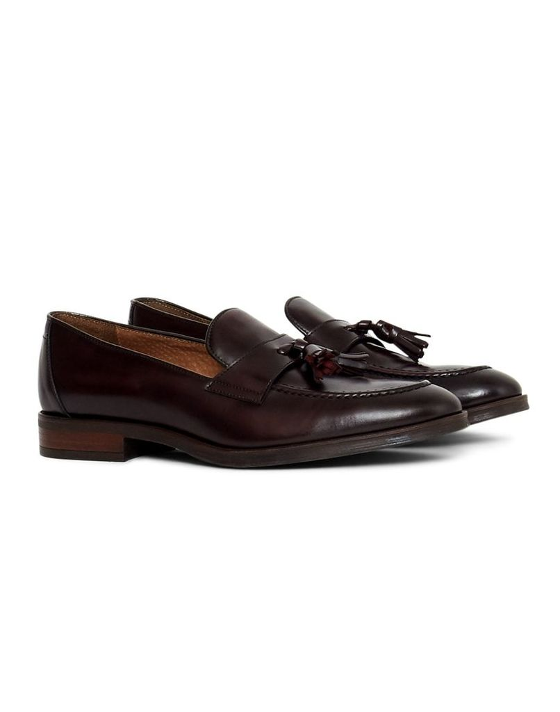 The Idle Man Leather Loafer Burgundy