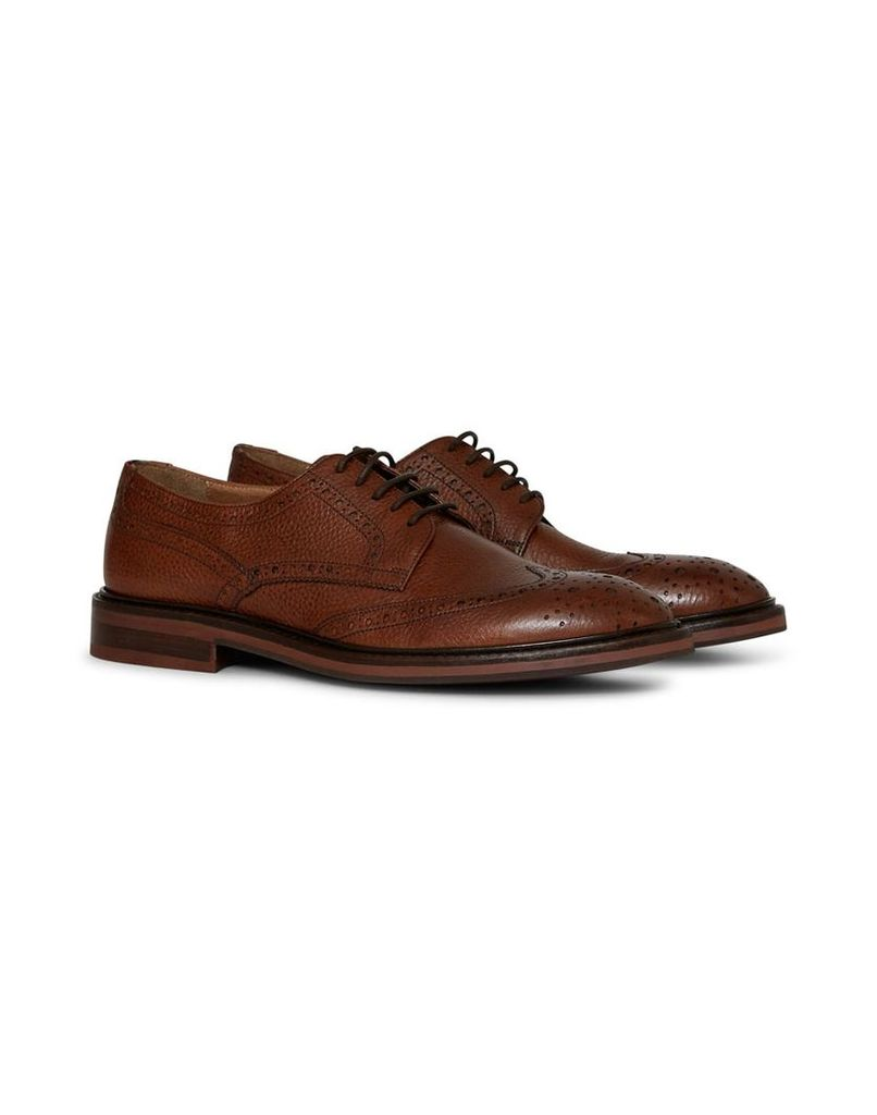 The Idle Man Leather Brogue Shoe Tan