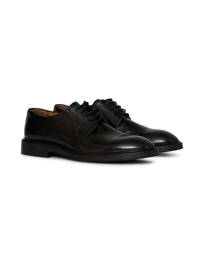 The Idle Man Leather Derby Shoe Black