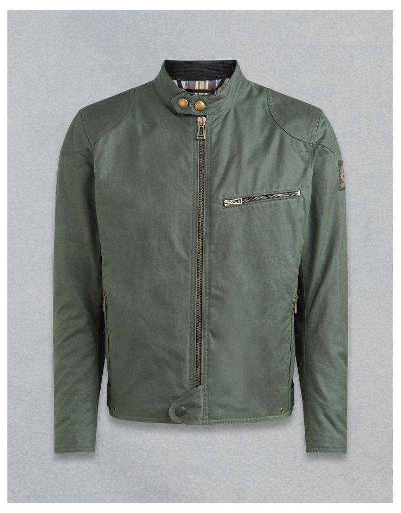 Belstaff Ariel Motorcycle Jacket Green