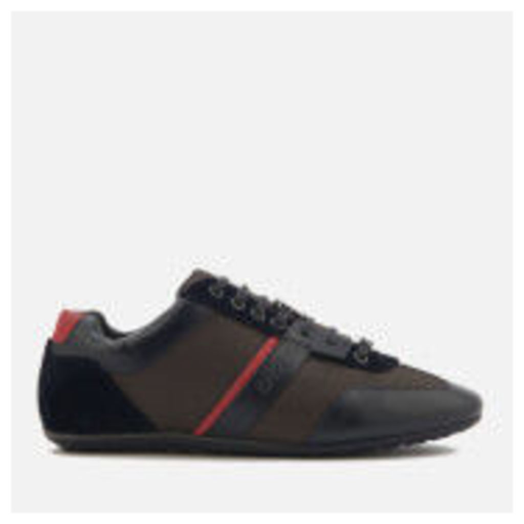 HUGO Men's That's Life Leather Low Top Trainers - Dark Blue