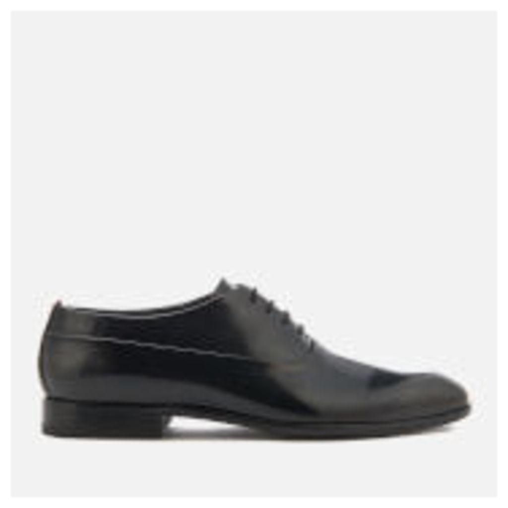 HUGO Men's Dress Appeal Brush Off Leather Oxford Shoes - Black