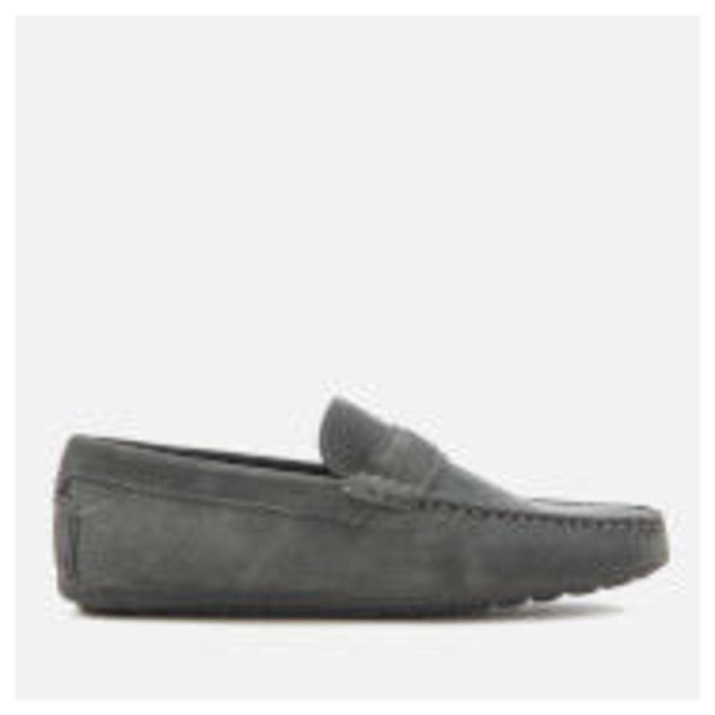 HUGO Men's Travelling Dandy Suede Moccasin Shoes - Dark Grey