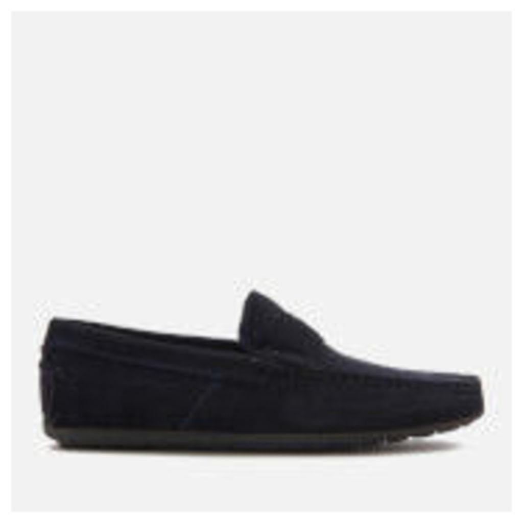HUGO Men's Travelling Dandy Suede Moccasin Shoes - Dark Blue