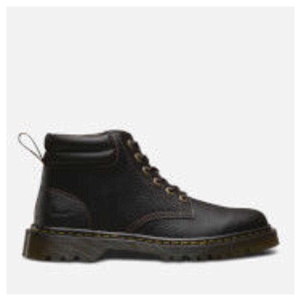 Dr. Martens Men's Faron Grainy Lace Low Boots - Dark Brown