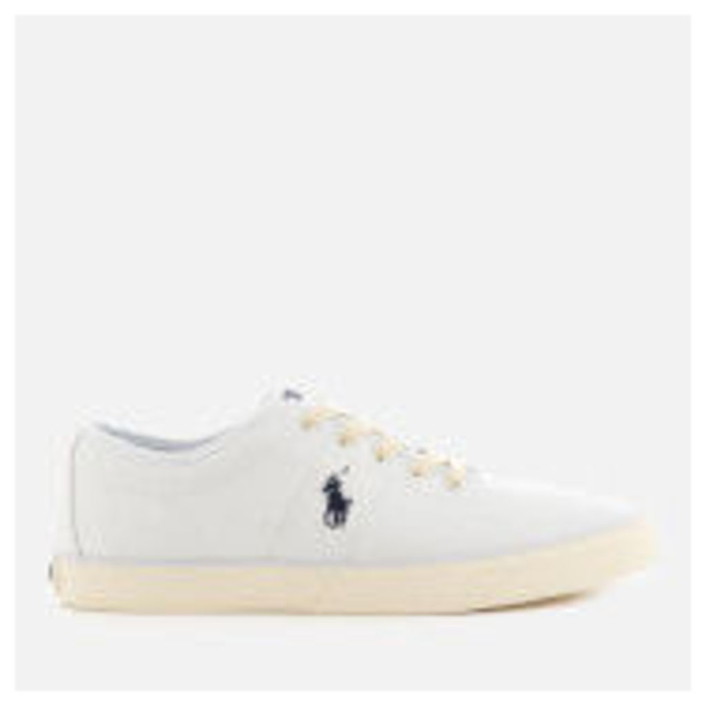 Polo Ralph Lauren Men's Halford Canvas Low Top Trainers - Pure White