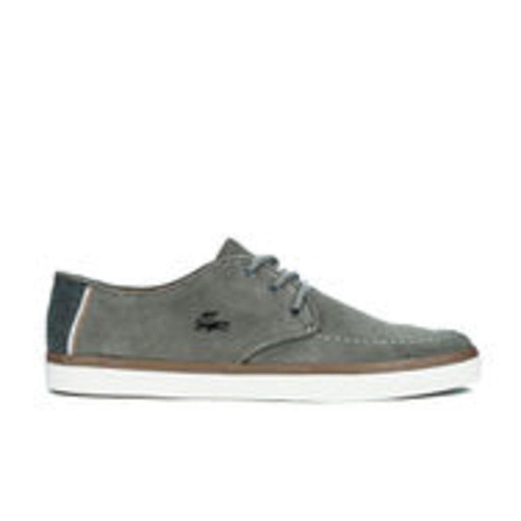 Lacoste Men's Sevrin 2 LCR Suede Deck Shoes - Grey