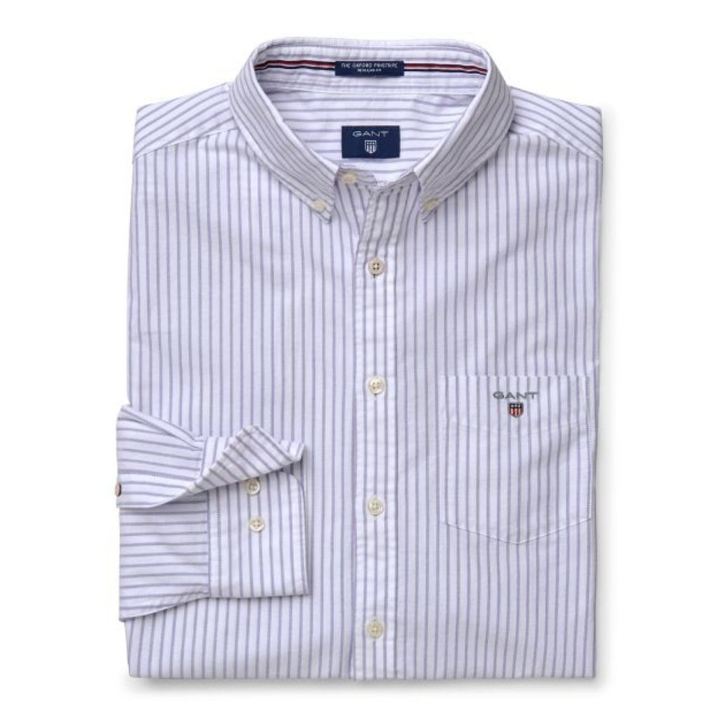 Regular Fit Oxford Pinstripe Shirt - Dawn Blue