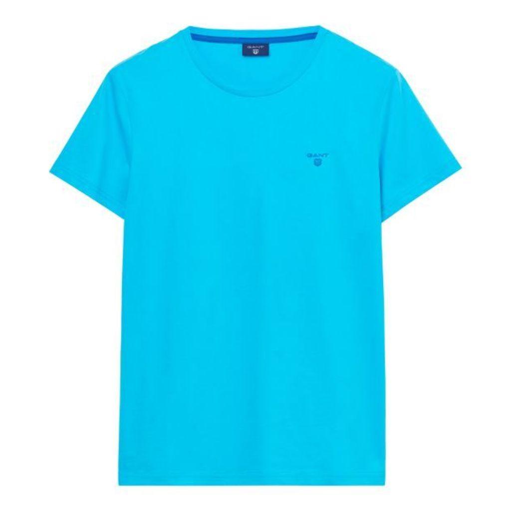 Short-sleeved Logo T-shirt - Sage Blue