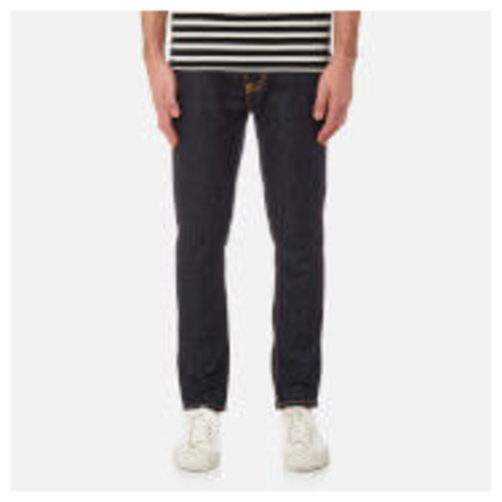 Nudie Jeans Men's Brute Knut Regular/Tapered Fit Jeans - Dry Navy Comfort - W30/L28