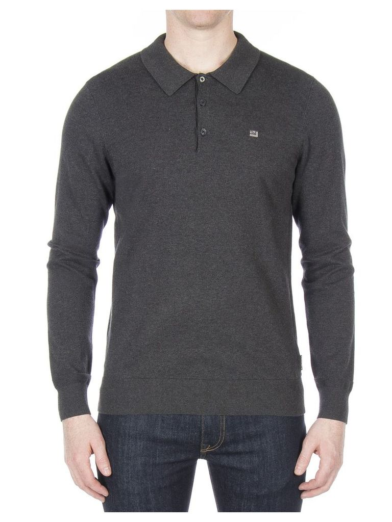Long Sleeve Polo Shirt XXXL DARK GREY MARL