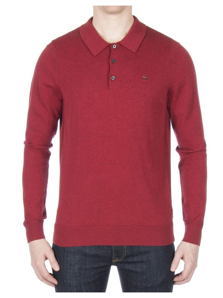Long Sleeve Polo Shirt XXXL CHILLI MARL