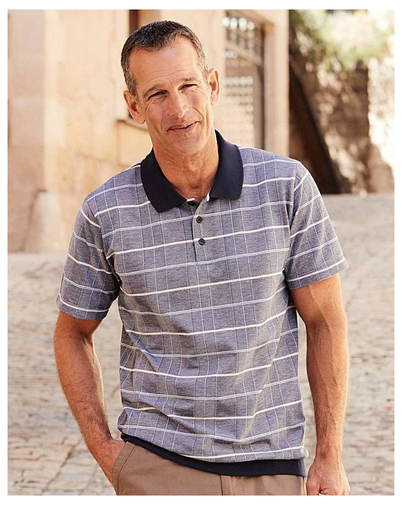 Premier Man Welted Hem Check Polo