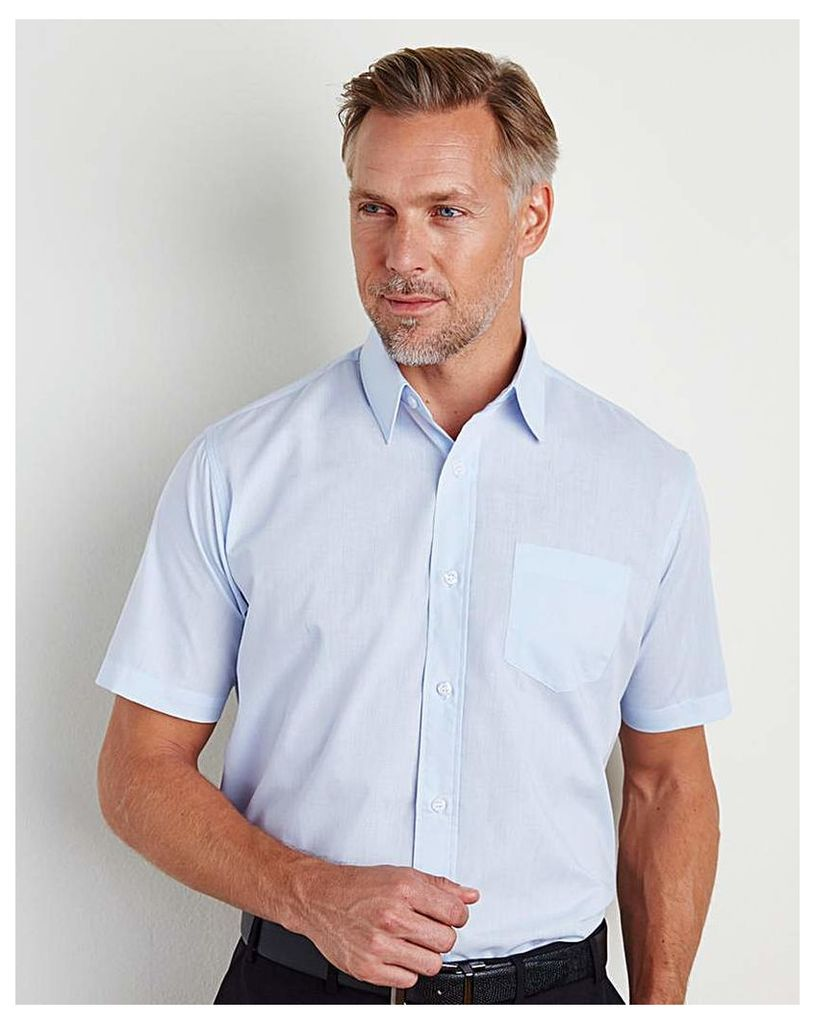 W&B London Blue S/S Formal Shirt L