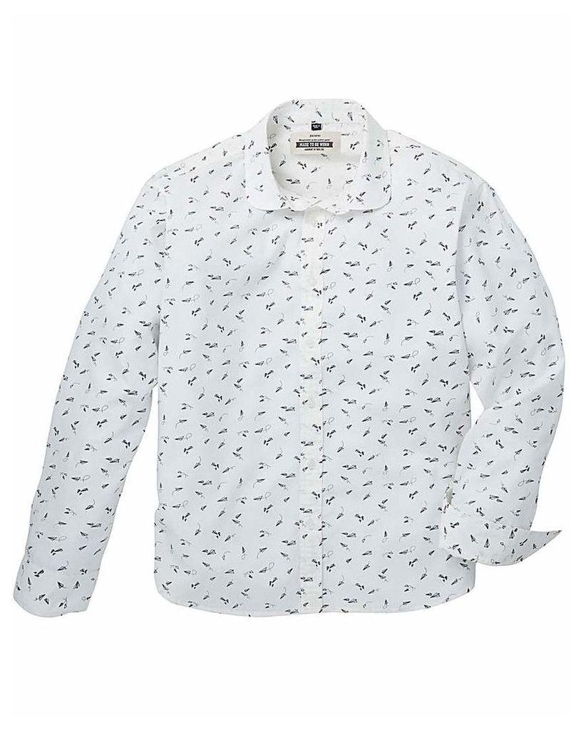 Jacamo Stream Printed L/S Shirt Regular