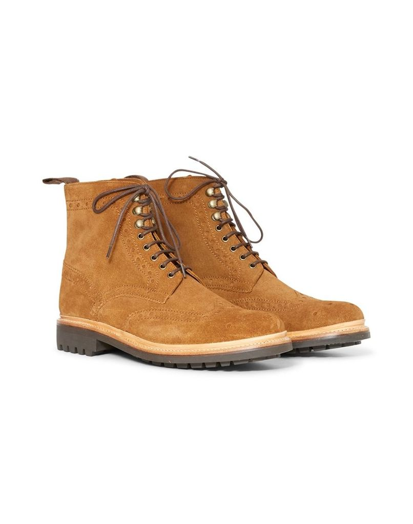 Grenson Fred Boot Suede Brown