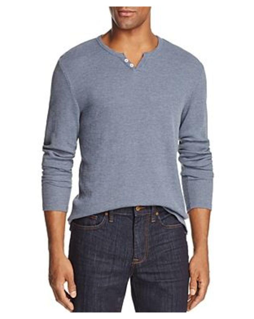 Joe's Jeans Wintz Long Sleeve Waffle Knit Henley