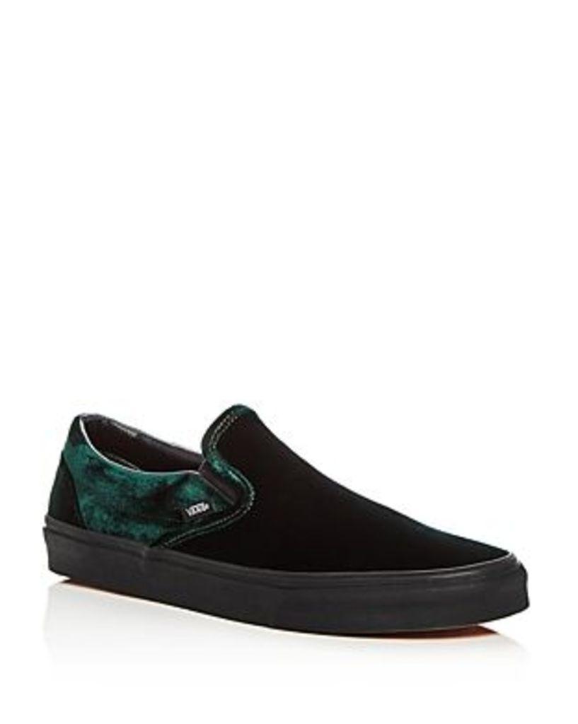 Vans Men's Classic Velvet Slip-On Sneakers