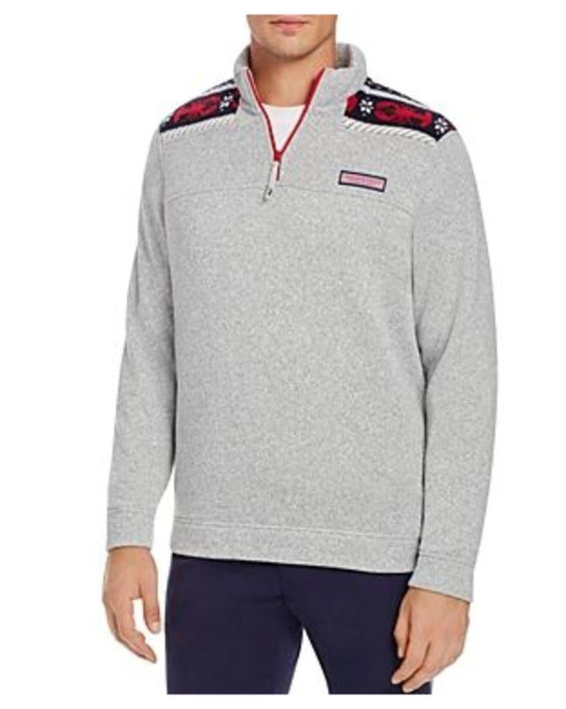 Vineyard Vines Lobster Jersey Shep Half-Zip Sweatshirt