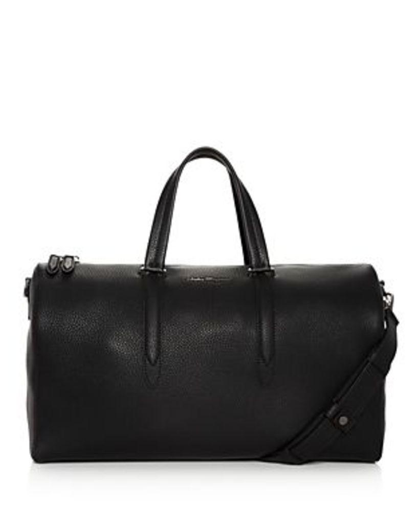 Salvatore Ferragamo Firenze Pebbled Leather Matte Duffel Bag