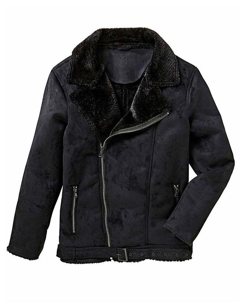 Label J Shearling Aviator Jacket Regular