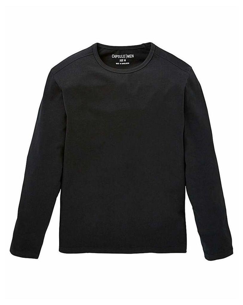 Capusle Black Long Sleeve T-shirt R