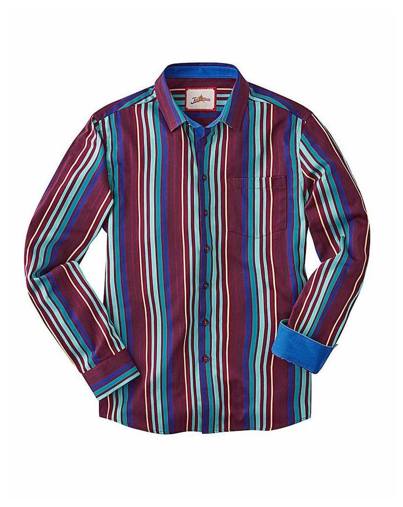 Joe Browns Party Stripe Shirt Reg