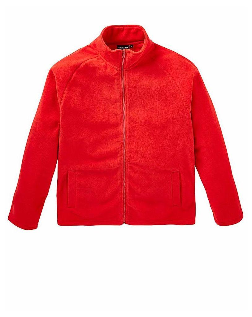 Capsule Red Full Zip Through Fleece R
