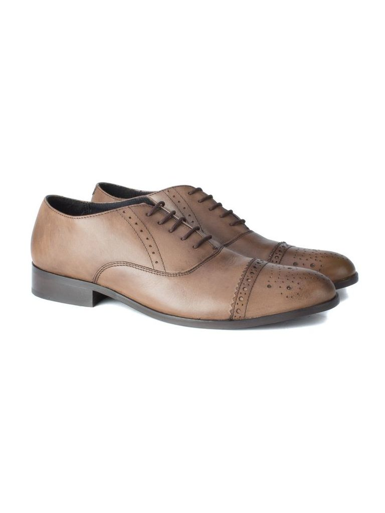 Tivoli Formal Brogue Shoe 10 Brown