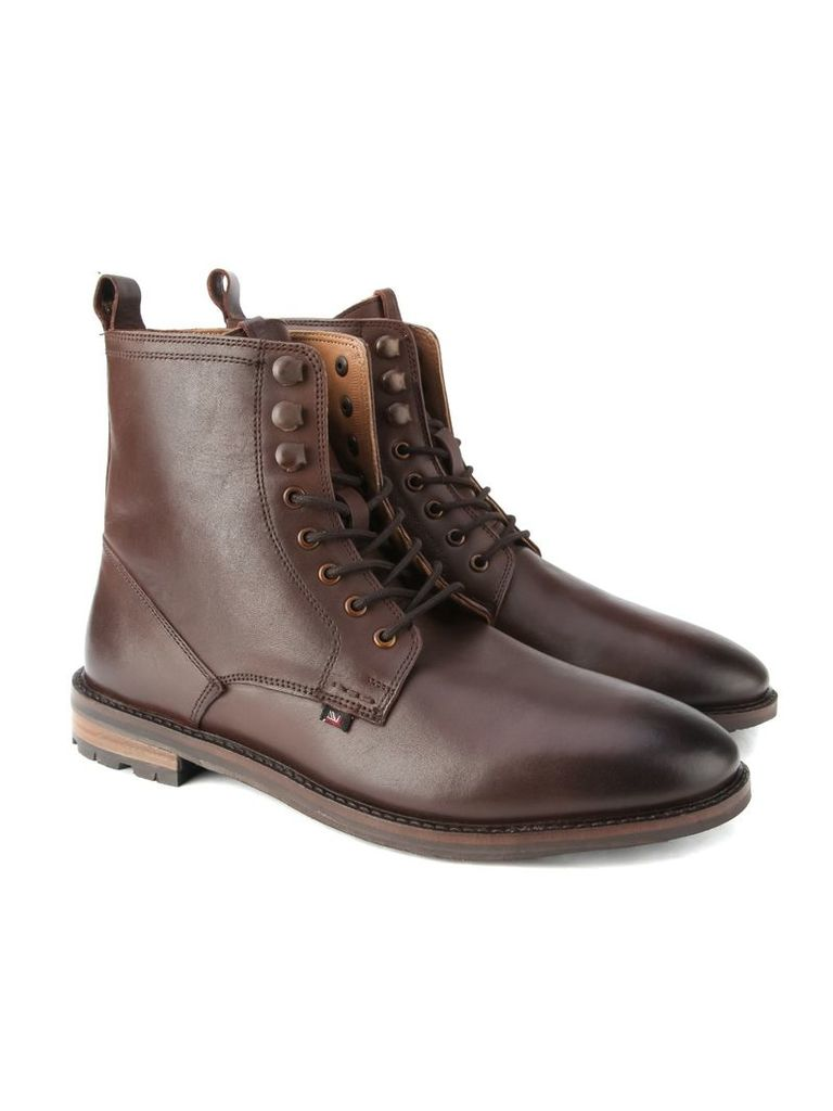 Earl Leather Lace Boot 10 Brown