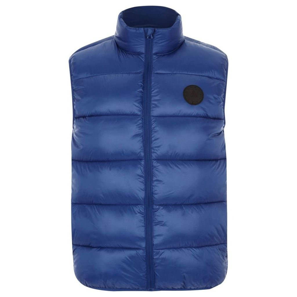 River Island Mens Big and Tall Blue puffer gilet